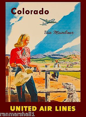 Colorado Mainliner United States Amerca Travel Advertisement Art Poster
