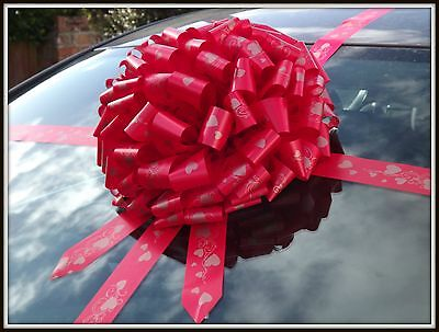 Valentines Giant Car Heart Bow, Extra Large Present ,Gift +SUPERFAST DISPATCH!!
