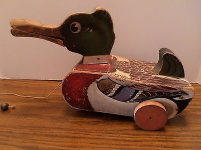 Fisher Price Snap-Quack 1947 Duck Toy #141