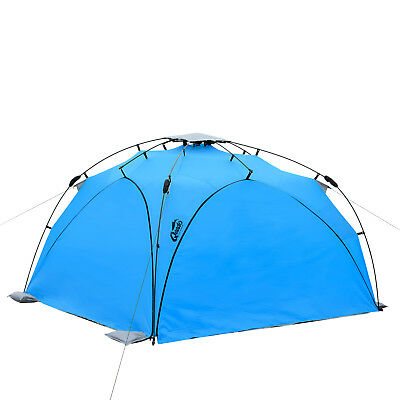 Strand Pavillon QEEDO Quick Plane Sekunden Strandmuschel POP UP SET blau
