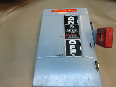 Ge Th4321 Heavy Duty Safety Switch. 30 Amp. 240 Vac. 7.5 Max Hp.