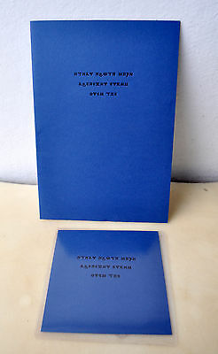 At Sunset Black Ships Ate The Sky David Tibet/Current 93 Signed Book 57/200 + CD