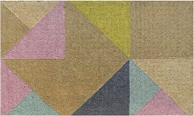 100% COIR Doormat Door Mat TOP Quality 45 x 75 GEOMETRIC Pastel Triangle 45 x 75
