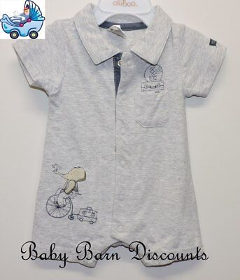 Max and Tilly - Grey Collared Romper - Size 4 x 0's
