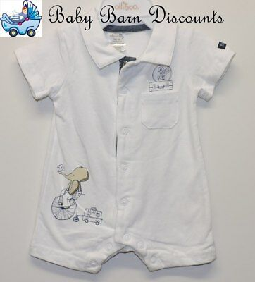 Max and Tilly - White Collared Romper - Size 4 x 0's
