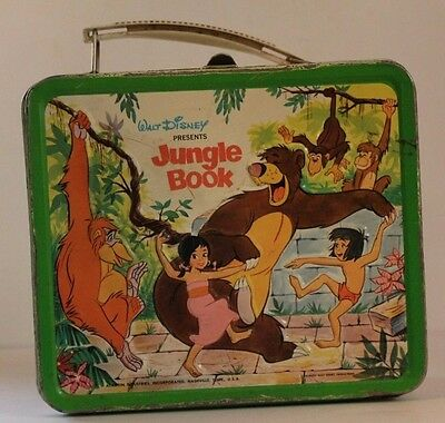 Vintage Metal Lunchbox W/metal Thermos 1968-69 Jungle Book