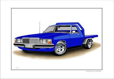 Holden Hj Hx Hz Wb Statesman 1Tonner Flatbed  Ute  Limited Edition Car Print