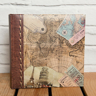 OLD WORLD MAP 6x4 PHOTO ALBUM - HOLDS 200 PHOTOS - Great Travel Journal Album
