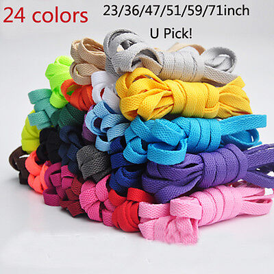 HOT 1 Pair Flat Athletic Shoe Laces Shoelaces Bootlaces Strings Sneakers Boot