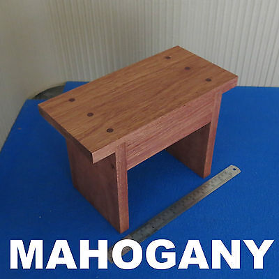 Solid Wooden Childrens Kids Step Stool Foot Chair Mahogany Wood Vintage Design