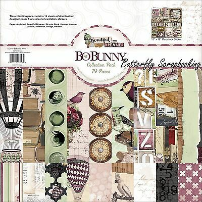 BEAUTIFUL DREAMER Collection Pack 12x12 Scrapbooking Kit BoBunny 19416356 New
