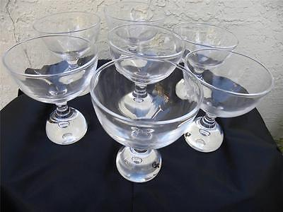 Set Of 7 Clear Champagne Glasses Wine Signed Kosta Lh 1475