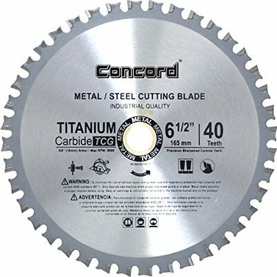 "Concord Blades MCB0650T040HP 6.5"" 40 Teeth TCT Ferrous Metal Cutting Blade New"