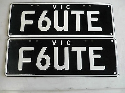 Ford Ba Bf Fg Xr6 Fpv Typhoon (F6Ute) Personal Number Plates