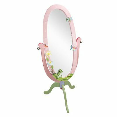 Fantasy Fields by Teamson Magic Garden Pink Childrens Full Length Wooden Mirror