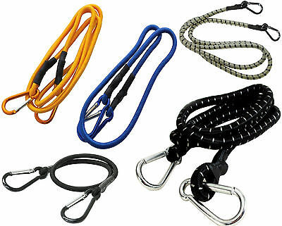Heavy Duty Bungee Shock Cord Rope Strap With 2 Carabiner Karabiner 24/36/48/72""
