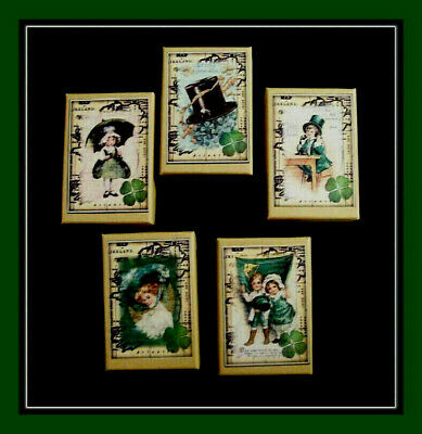 Set Of Five St. Patrick's Day Gift Boxes  - Old Ireland Vintage Designs