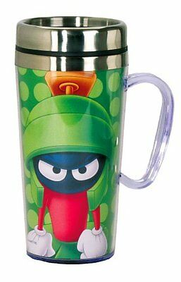Looney Tunes Marvin The Martian Insulated Travel Mug, Green New Gift