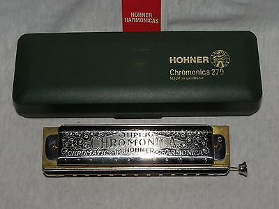 HOHNER SUPER CHROMONICA 270 in BOX  MUNDHARMONIKA C          (09/11)