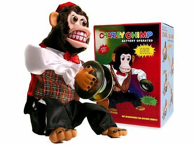 Charley Chimp, Cymbal-Playing Monkey Toy Kids Play Game Christmas Gift New Gift