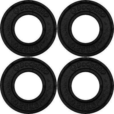 """BodyRip Cast Iron 2"""" Olympic Fraction Weight Plates 4 x 0.25kg Discs Low Weights"""