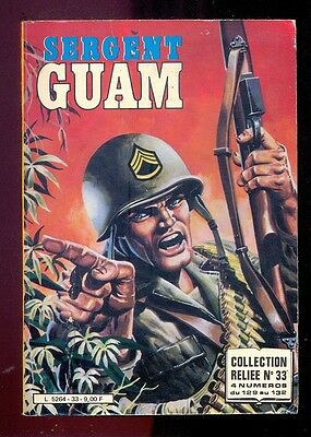 Sergent Guam, Collection reliée n°33 (n°129 à 132), Editions Impéria, 1985