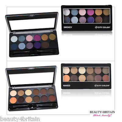 Naked & Smokey Luxury Eye Shadow Palette City Color Authentic 2 Sets UK Seller