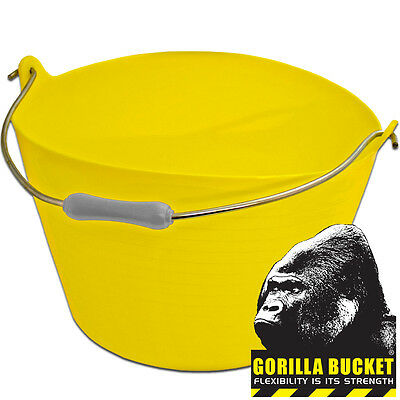 22 Litres Gorilla Plastic Flexible Super Strong Builders Recycled Tub Bucket