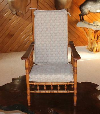 Vintage Child's Morris Chair with cushions
