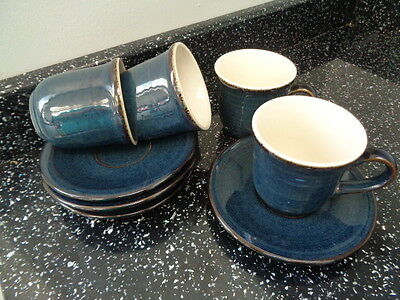 Bhs Brecon Espresso / Coffee Cups And Saucers X 4