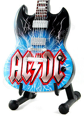 Miniature Guitar ACDC with stand. AC/DC