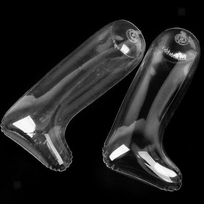 Pair Inflatable Shoes Stretcher Boots Insert Shaper Stand Support Tree Clear