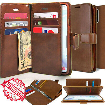 For Galaxy S20 Ultra S10 S9 Note10+ 9 8 Dual Shockproof Flip Wallet leather Case