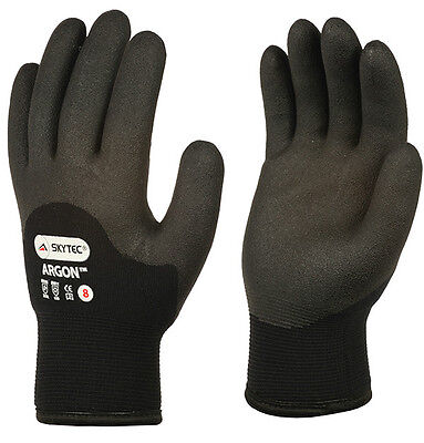 2 x Pairs Of Skytec Argon HPT Foam Cold Grip Gloves Winter Safety Thermal Work