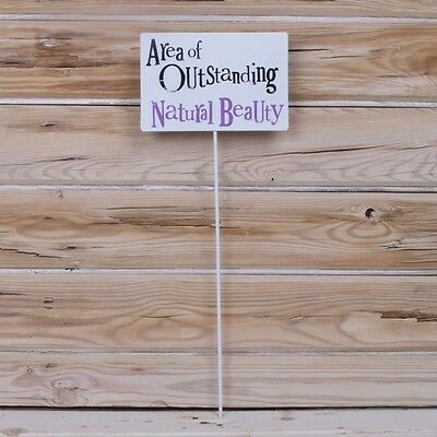 Area of outstanding natural beauty Metal garden sign Stake The Bright Side New
