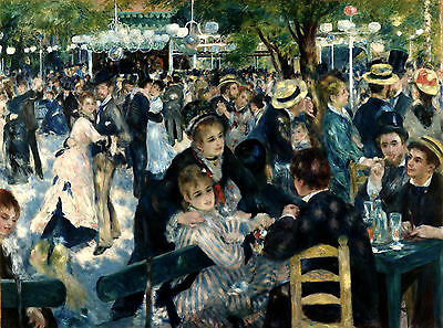 A3 - AUGUST RENOIR - DANCE AT LE - FAMOUS PAINTERS CLASSIC PAINTINGS Posters #4
