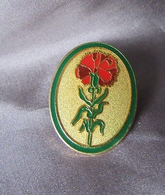 Floral Oval Multi Colored  Oval  Gold Tone Base 3/4 X 1 Pin