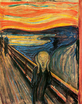 A3 - EDVARD MUNCH THE SCREAM - FAMOUS PAINTERS CLASSIC PAINTINGS Posters #4