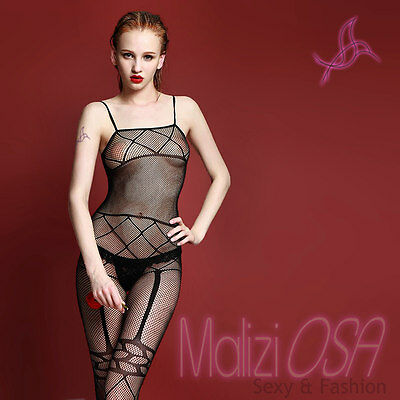 CATSUIT Bodystocking Aperta tuta SEXY Hot Lingerie shop intimo Rete Body Tutina