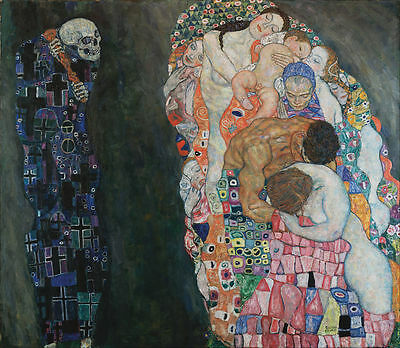 A3 - GUSTAV KLIMT DEATH AND LIFE - FAMOUS PAINTERS CLASSIC PAINTINGS Posters #4
