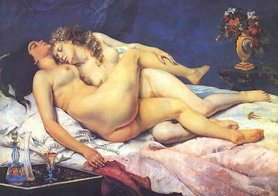 A3 -GUSTAVE COURBET SLEEP - FAMOUS PAINTERS CLASSIC PAINTINGS Posters #4