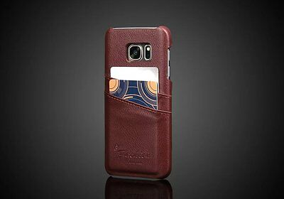 For Samsung Galaxy S7 Genuine Leather Back Cover Case