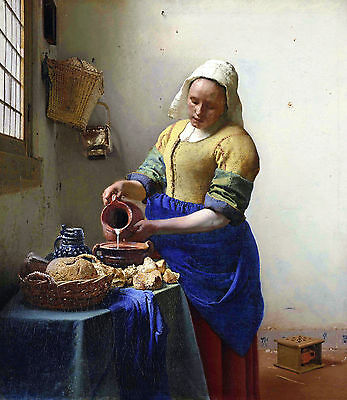 A3 - JOHANNES VERMEER  THE MILKMAI- FAMOUS PAINTERS CLASSIC PAINTINGS Posters #4
