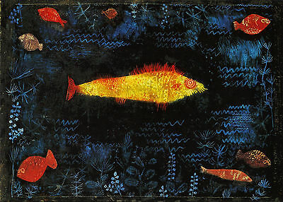 A3 -PAUL KLEE  GOLDEN FISH - FAMOUS PAINTERS CLASSIC PAINTINGS Posters #4