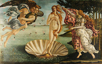 A3 -SANDRO BOTTICELLI THE BIRTH - FAMOUS PAINTERS CLASSIC PAINTINGS Posters #4