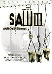 Saw III DVD 2007 Unrated Full Screen DVD Movie Saw 3 NEW