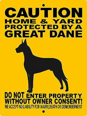 "GREAT DANE  SIGN,GREAT DANE,9""x12"" ALUMINUM SIGN,DOGS,WARNING,GUARD DOG  2496GD"