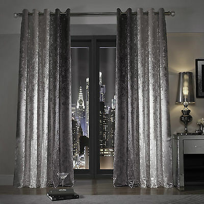 Natala Velvet Eyelet Ring Top Fully Lined Ready Made Curtains By Kylie Minogue