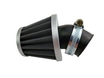 Air Filter - 35mm, 30 Degree Angle, Cone - (Chrome) - Scooters, ATVs, Motorcycle
