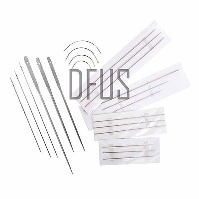 Upholstery hand sewing buttoning mattress curved needle repair kits UK SELLER